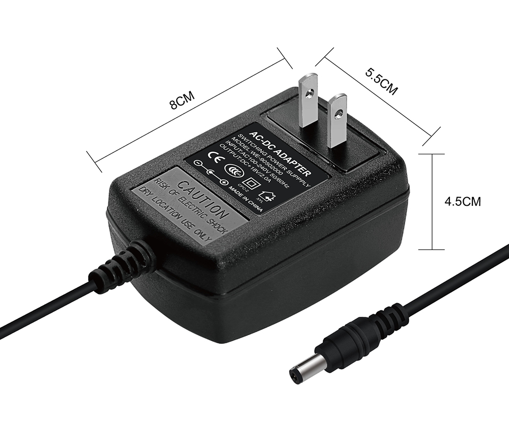 18v 2a 36w Switching Power Supply Ac Dc Adapter Us Plug Powersupply